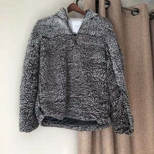 Thread & Supply Gray Sherpa Pullover Medium